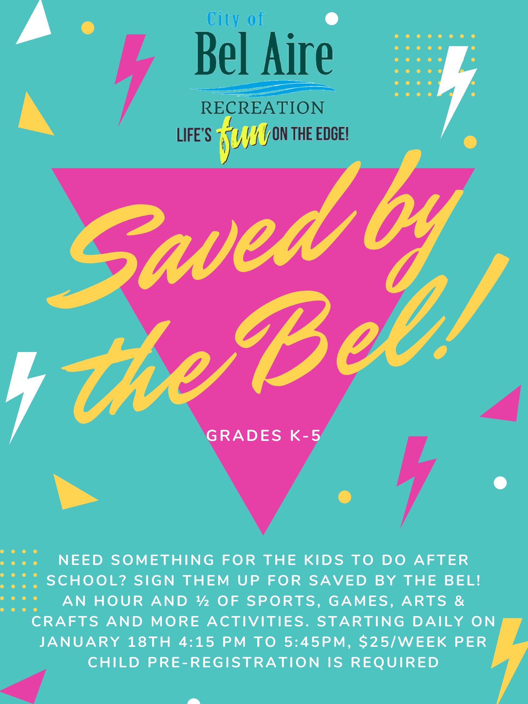 Saved by the Bel!