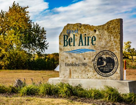 Bel Aire Welcome Sign