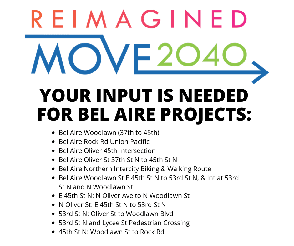 PROVIDE YOUR INPUT ON BEL AIRE PROJECTS