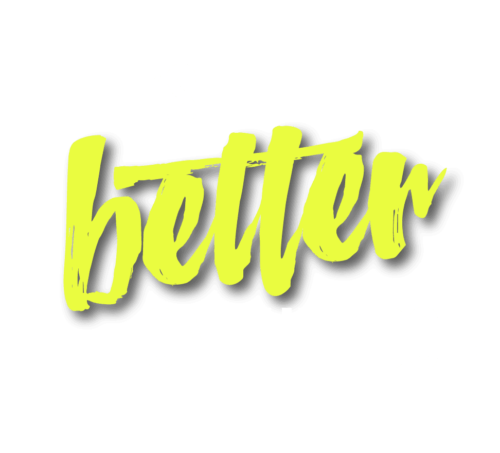 Lifes Better on the Edge Logo White
